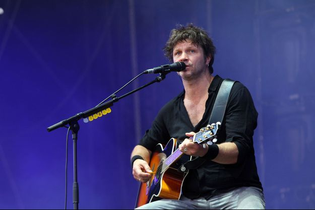 Bertrand Cantat en concert en juillet 2014 aux Vieilles charrues de Carhaix.