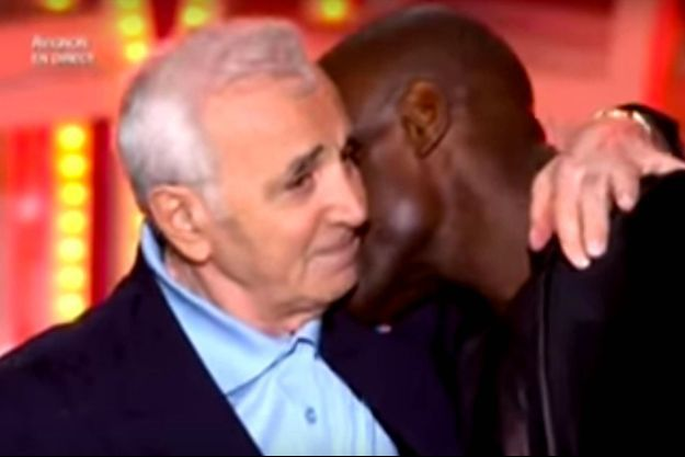 Charles Aznavour et Kery James sur France 2.