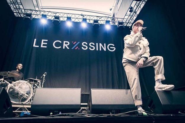 Eddy de Pretto lors du Crxssing festival.