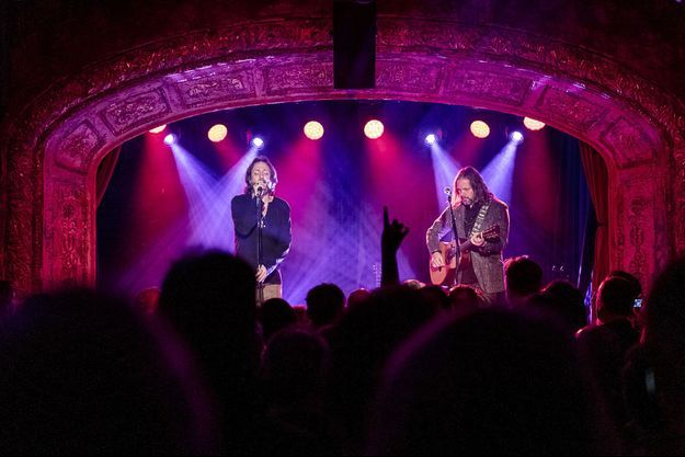 The Black Crowes sur scène à Londres mercredi soir.