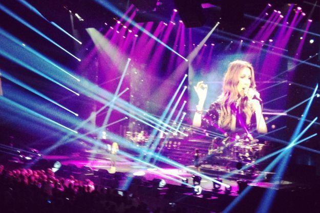 Céline Dion sur la scène de Bercy.