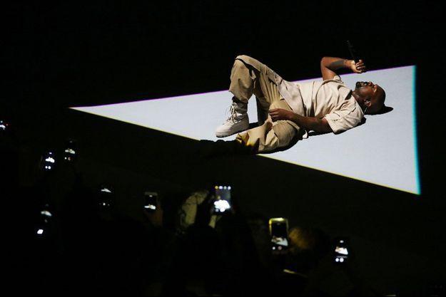 Kanye West était en concert à Paris.