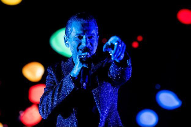 David Gahan du groupe Depeche sur la scène de la Friends Arena de Stockholm.