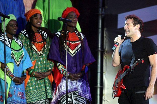 Johnny Clegg lors d'un concert en 2007.