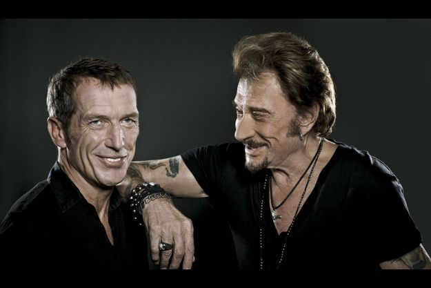 Christophe Miossec et Johnny Hallyday.