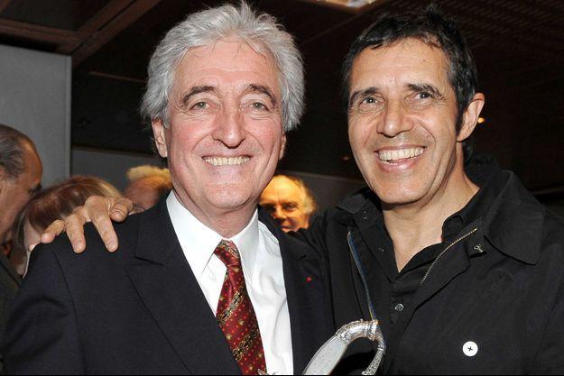 Jean-Loup Dabadie et Julien Clerc le 5 mars 2009.