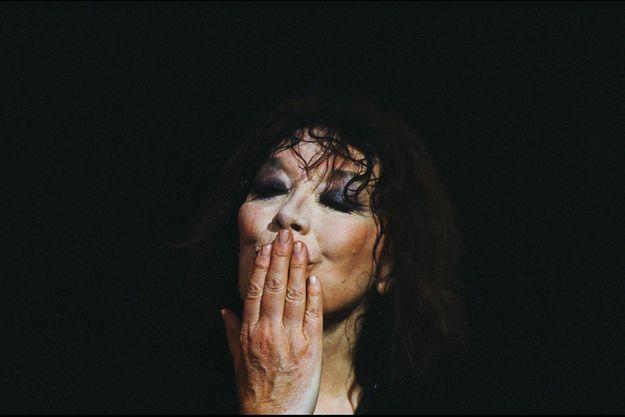 Juliette Gréco au Printemps de Bourges en 1992.