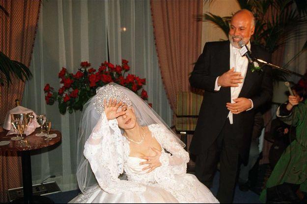 Mariage de Céline Dion et René Angélil, à Montréal, le 16 novembre 1994