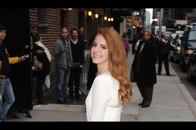 Lana Del Rey, le deux février à New York, avant l'enregistrement du talk-show de David Letterman.
