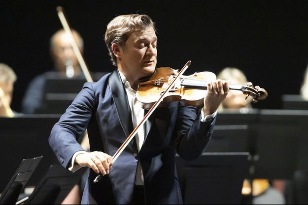 Renaud Capuçon lors d'un concert à Nice, en août 2020.