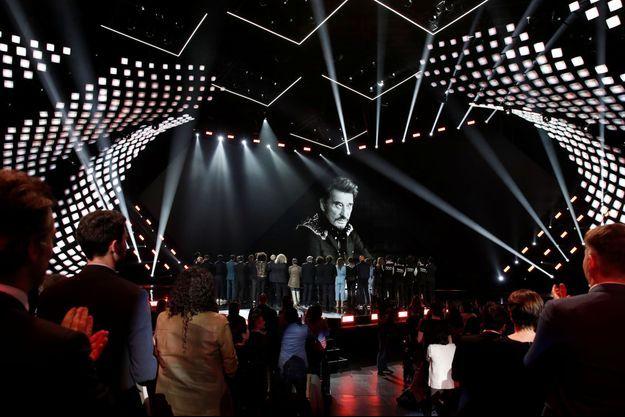 Des artistes avaient rendu hommage à Johnny Hallyday lors des Victoires de la musique.
