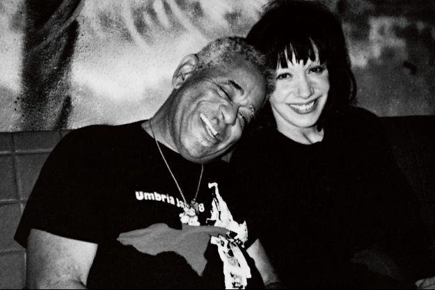 Avec Dizzy Gillespie au New Morning, à Paris, en 1974.