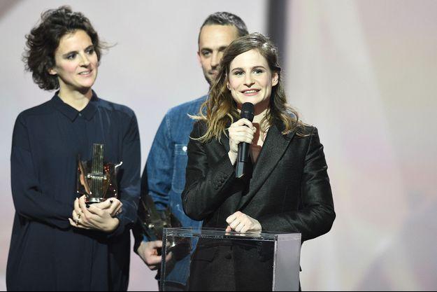 Christine and the Queens sur la scène du Zénith de Paris.