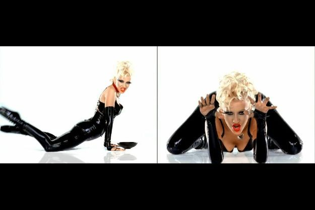 Christina Aguilera dans le clip « Not Myself Tonight ».
