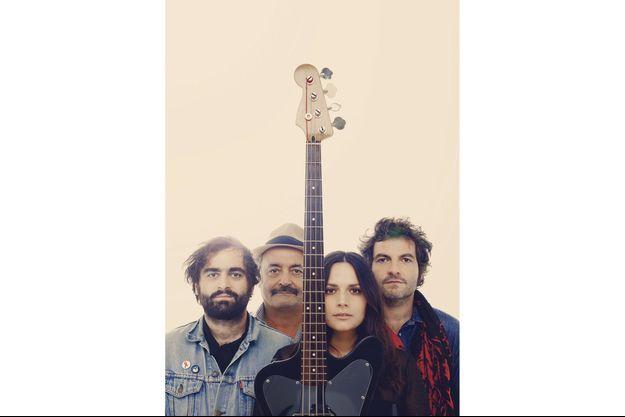 Joseph, Louis, Anna et Mathieu Chedid, une famille bientôt en tournée.