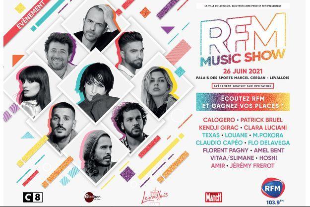 L'affiche du RFM Music Show 2021.