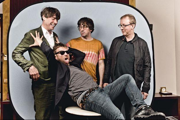 De g. à dr. : Alex James, Damon Albarn, Graham Coxon et Dave Rowntree.
