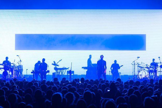 Massive Attack en concert.