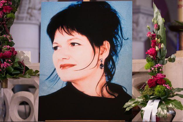 Un portrait de Maurane lors de ses funérailles, le 17 mai 2018.