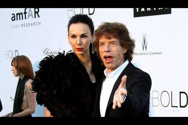 Jeudi 20 mai, à Cannes, sir Mick Jagger et sa compagne, la styliste L'Wren Scott.