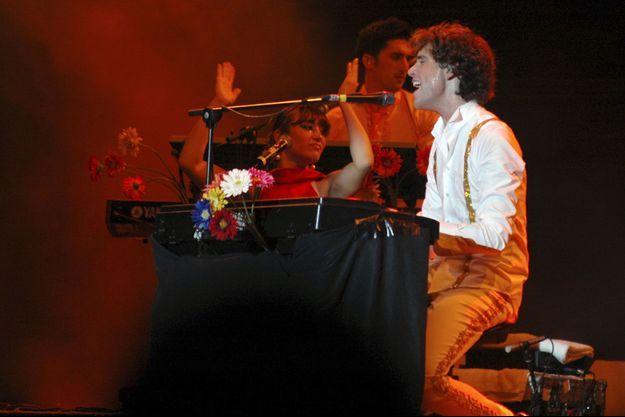 Octobre 2007, Mika en concert à Dubaï.