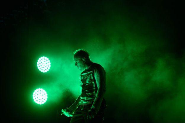 Keith Flint sur scène avec The Prodigy en août 2015 en Corée du Sud.