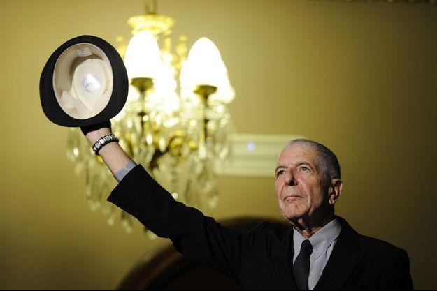 Leonard Cohen en Espagne en 2011.
