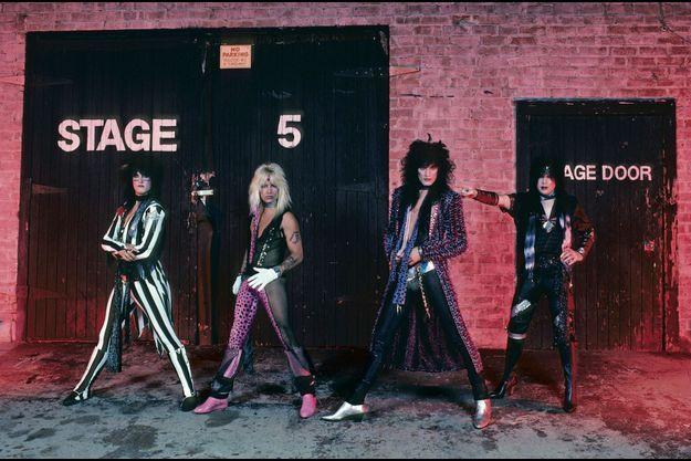 Motley Crüe dans les années 80.