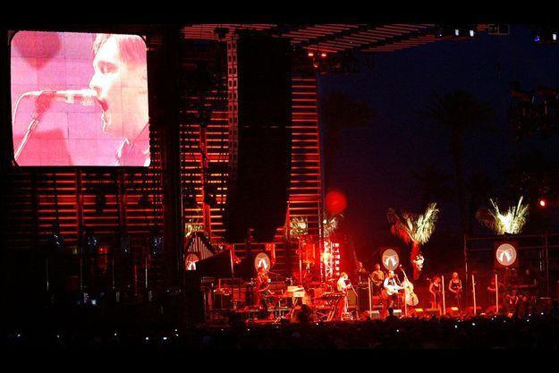 Arcade Fire en concert au Coachella Music Festival à Indio, Californie en 2007.