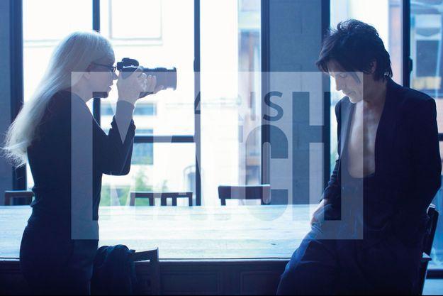 Dominique Issermann et Nicola en plein shooting.