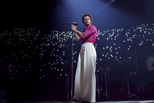 Harry Styles lors du lancement de son album à Los Angeles, le 13 décembre.