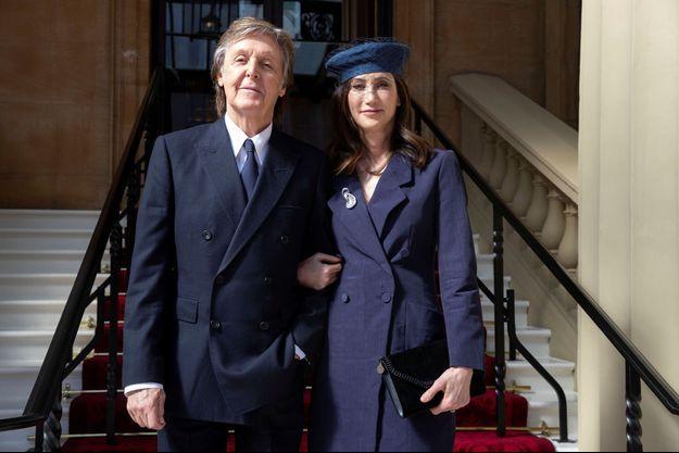 Paul McCartney et son épouse Nancy Shevell