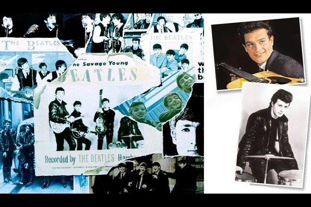 Pete Best, en bas à droite, au début des années 60.