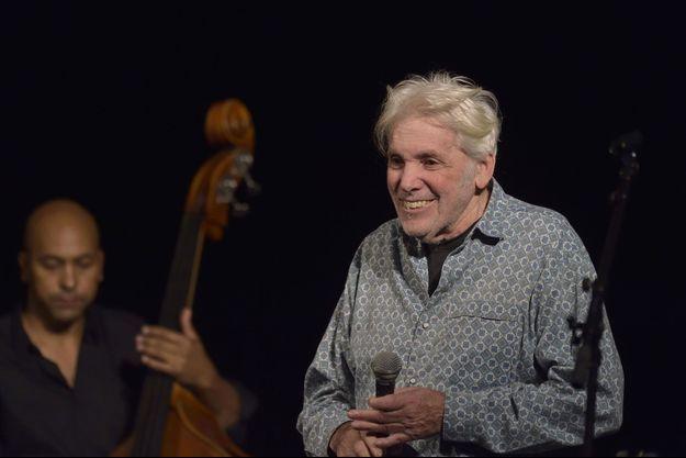 Pierre Barouh lors des 50 ans de son label Saravah au Trianon, en novembre dernier.