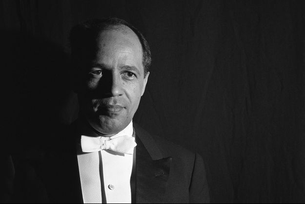 Pierre Boulez, photographié à l'Odéon, à Paris, en 1962.