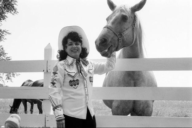 Yvette Horner à Nashville en 1977.