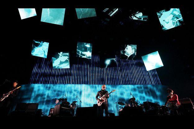 Radiohead en avril dernier lors du festival Coachella, en Californie.