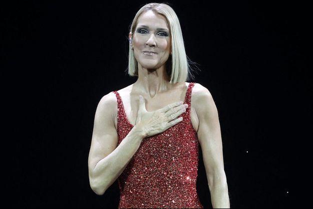 Céline Dion sur scène en 2019.