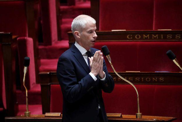 Le ministre de la Culture Franck Riester le 19 mai à l'Assemblée nationale.