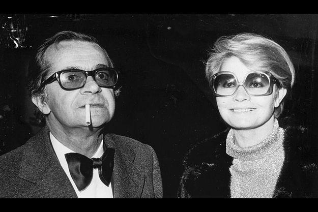Serge Reggiani et Noëlle Adam dans les années 70.