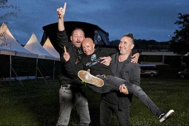 Christophe Mali, Guizmo et Daniel Bravo.