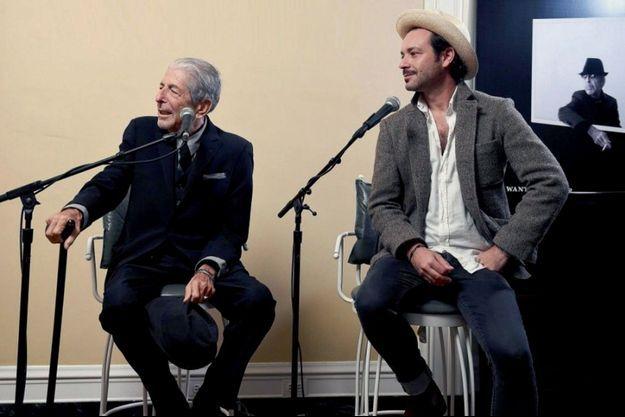 Leonard Cohen et son fils, Adam.
