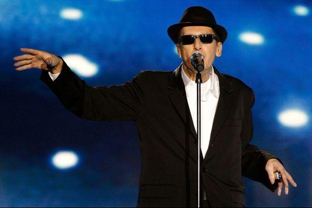 """Alain Bashung lors des """"Victoires de la musique"""" en février 2009, un mois avant sa disparition."""