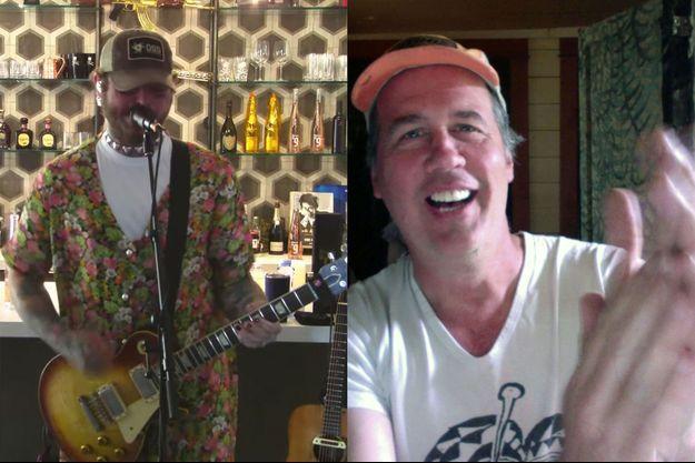Post Malone lors du concert hommage à Nirvana et la réaction du bassiste de Nirvana, Krist Novoselic, sur Twitter.