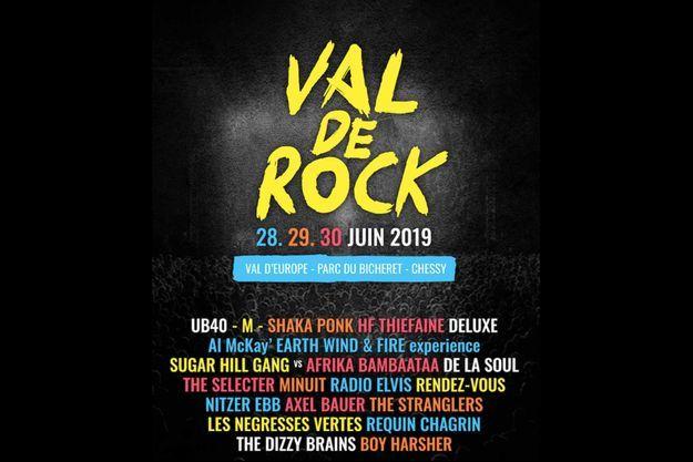 L'affiche de Val de Rock, désormais collector.