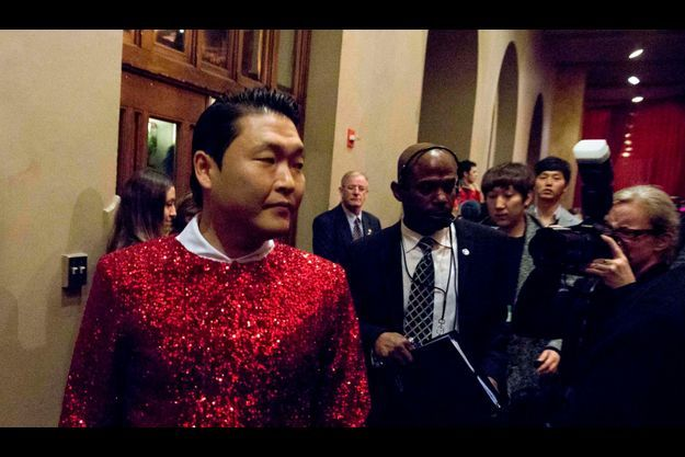 Psy dans la coulisse du concert de Washington