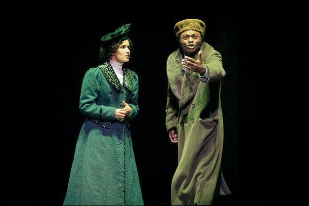 Sabrina Ouazani et Marc Zinga sur la scène du Théâtre du Châtelet