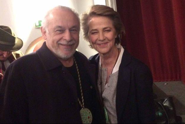 Francis Perrin et Charlotte Rampling