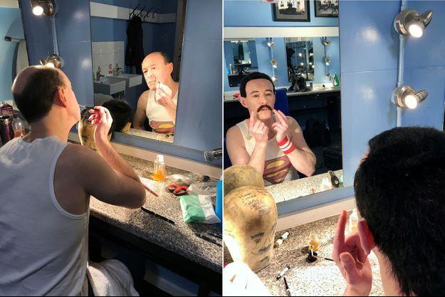 Gary Mullen avant et après sa métamorphose.