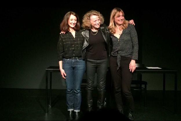 Judith Henry, Annick Cojean et Julie Gayet.
